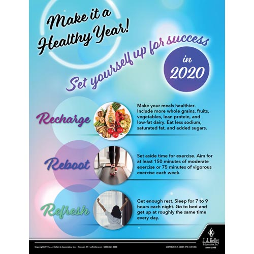 Make It A Healthy Year - Health & Wellness Awareness Poster (015680)