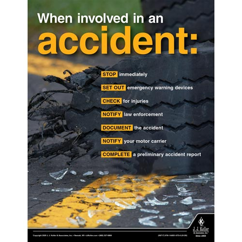 When Involved in an Accident - Transportation Safety Poster (015682)