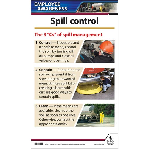 Trucking Spill Control - Driver Awareness Poster (015805)