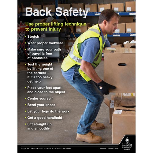 Back Safety - Driver Awareness Safety Poster (015684)