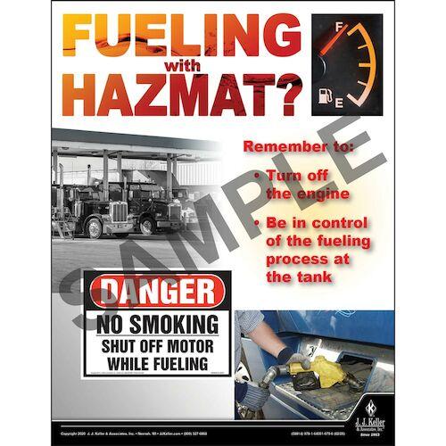 Fueling with Hazmat - Hazmat Transportation Poster (015687)