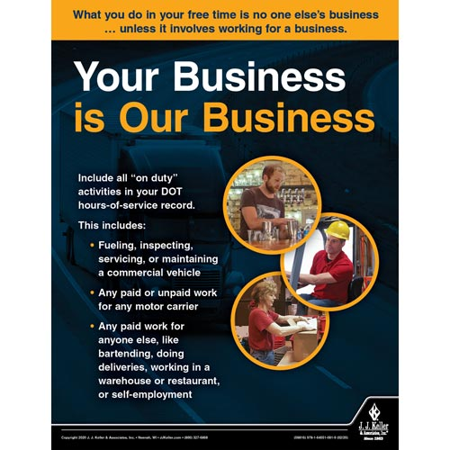 Your Business is Our Business - Motor Carrier Safety Poster (015689)