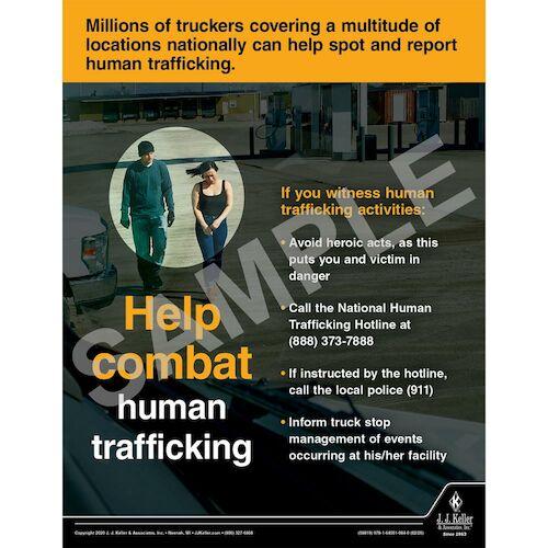 Help Combat Human Trafficking - Transport Safety Risk Poster (015691)