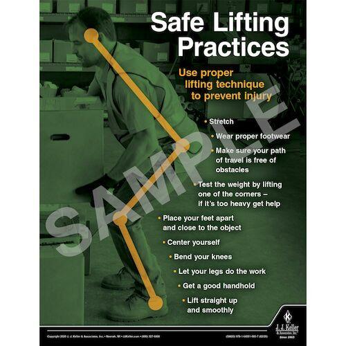 Safe Lifting Practices - Transportation Safety Poster (015692)