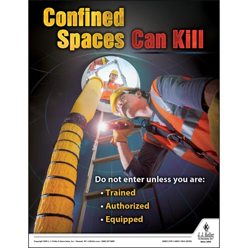 Confined Spaces Can Kill - Workplace Safety Training Poster (015693)