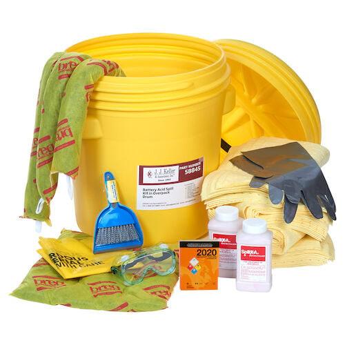 Battery Acid Spill Kit in Overpack Drum (015587)