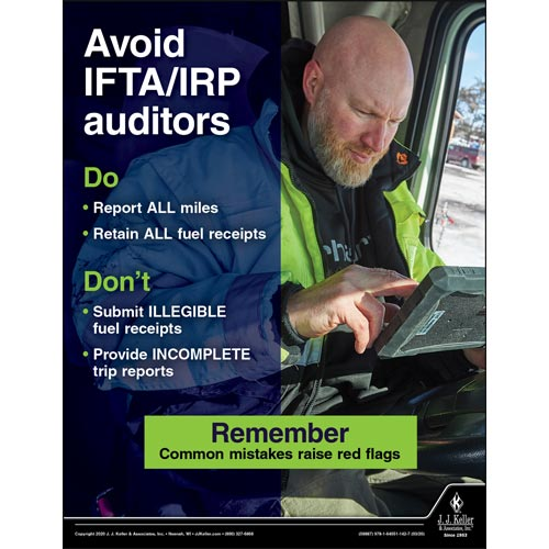 Avoid IFTA/IRP Auditors - Motor Carrier Safety Poster (017070)