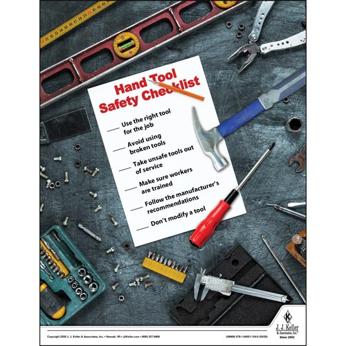Hand Tool Safety Checklist - Construction Safety Poster (015695)