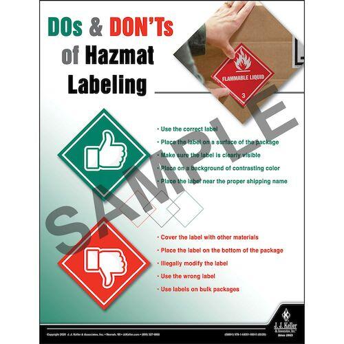 Hazmat Labeling - Hazmat Transportation Poster (015696)