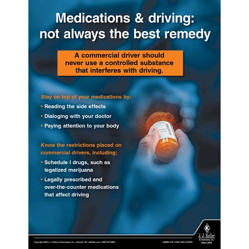 Medications & Driving: Not Always The Best Remedy - Transport Safety Risk Poster (015700)