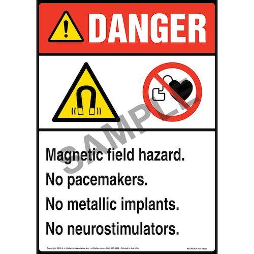 Danger: Magnetic Field Hazard - ANSI (015734)