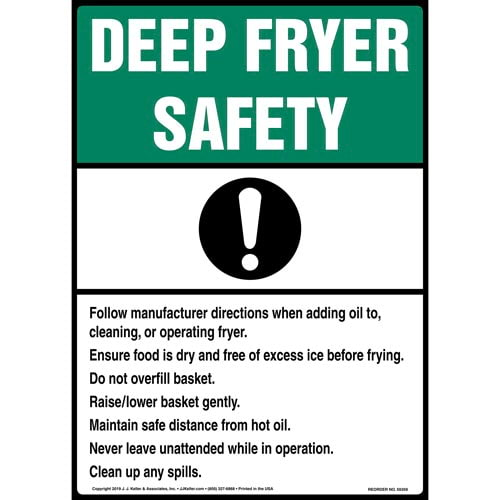 Deep Fryer Safety Poster - ANSI (015738)