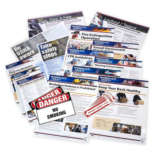 Manufacturing Small Industry Safety Poster Bundle (015757)