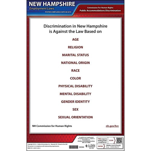 New Hampshire Public Accommodation Discrimination Poster (015758)