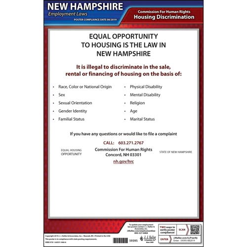New Hampshire Fair Housing Poster (015759)