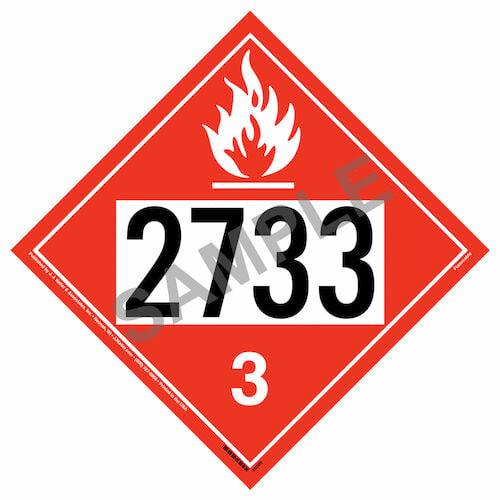 2733 Placard - Class 3 Flammable Liquid (015761)