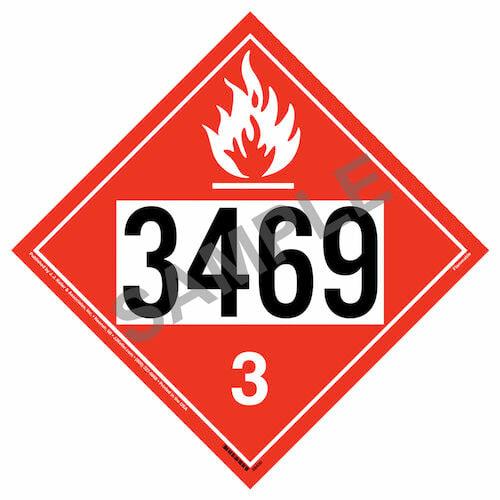 3469 Placard - Class 3 Flammable Liquid (015763)