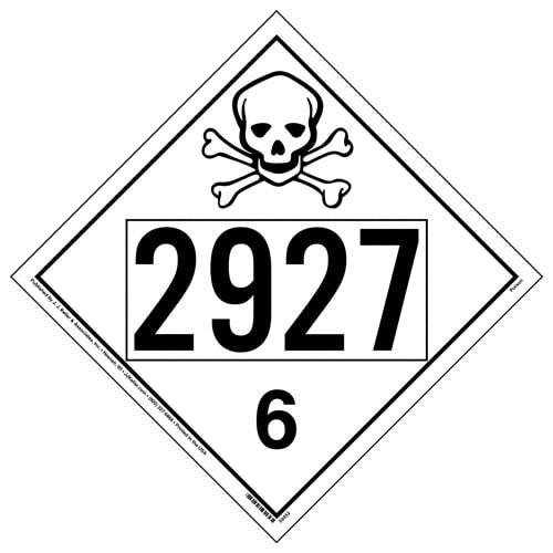 2927 Placard - Division 6.1 Poison (015765)