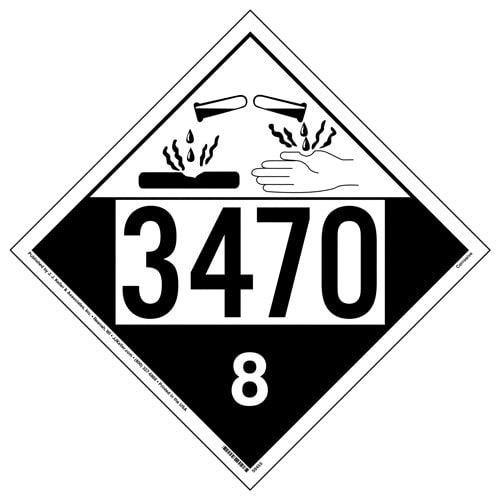 3470 Placard - Class 8 Corrosive (015766)