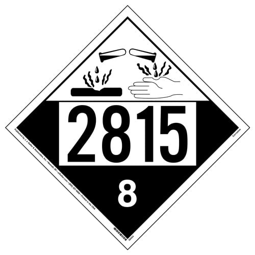 2815 Placard - Class 8 Corrosive (015767)