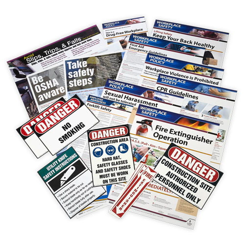 Construction Small Industry Safety Poster Bundle (015775)