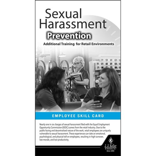 Sexual Harassment Prevention: Additional Training for Retail Environments - Skill Cards (015795)