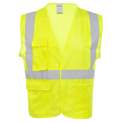 J. J. Keller™ SAFEGEAR™ Safety Vest Type R Class 2 - Hook & Loop Closure with Vertical Reflective Tape (015921)
