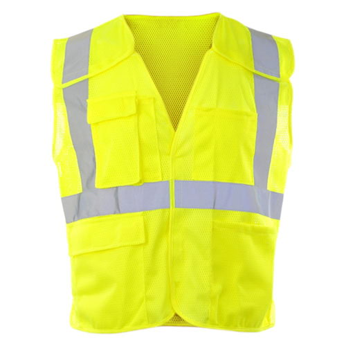 J. J. Keller™ SAFEGEAR™ Safety Vest Type R Class 2 - Hook & Loop 5-Point Breakaway Closure with Vertical Reflective Tape (015923)