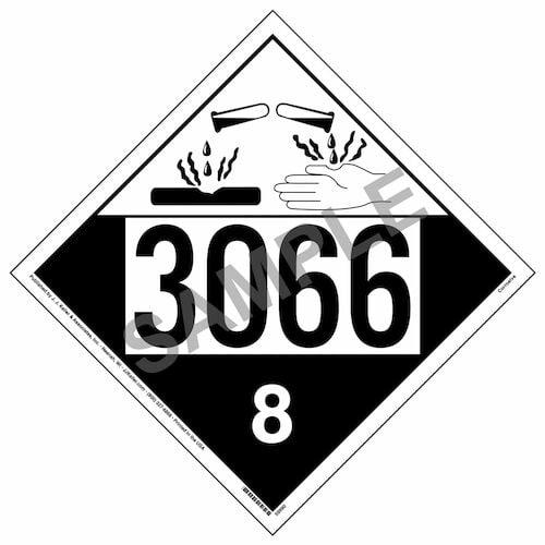 3066 Placard - Class 8 Corrosive (016003)