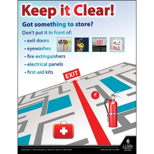 Keep It Clear - Workplace Safety Training Poster (016061)
