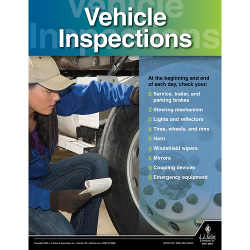 Vehicle Inspections -Transportation Safety Poster (016065)