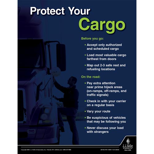 Protect Your Cargo - Driver Awareness Safety Poster (016067)