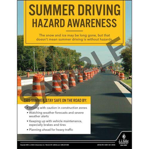 Summer Driving Hazard Awareness - Motor Carrier Safety Poster (016068)