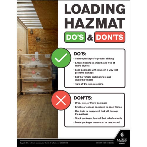 Loading Hazmat Do's & Don'ts - Hazmat Transportation Poster (016071)