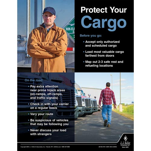 Protect Your Cargo - Transportation Safety Poster (016076)