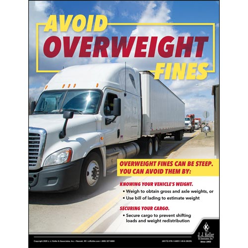Avoid Overweight Fines - Motor Carrier Safety Poster (016079)