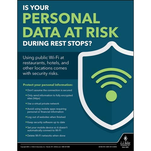 Personal Data At Risk -Transport Safety Risk Poster (016086)