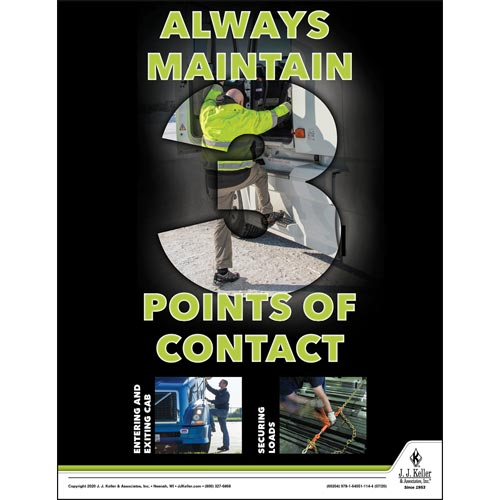 Always Maintain Points of Contact - Driver Awareness Safety Poster (016089)