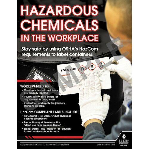 Hazardous Chemicals - Construction Safety Poster (016091)