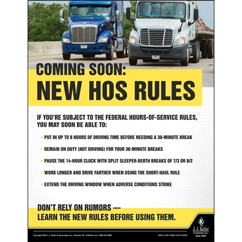 Coming Soon: New HOS Rules - Motor Carrier Safety Poster (016095)
