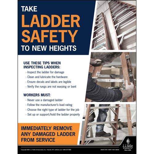 Take Ladder Safety To New Heights - Construction Safety Poster (017002)