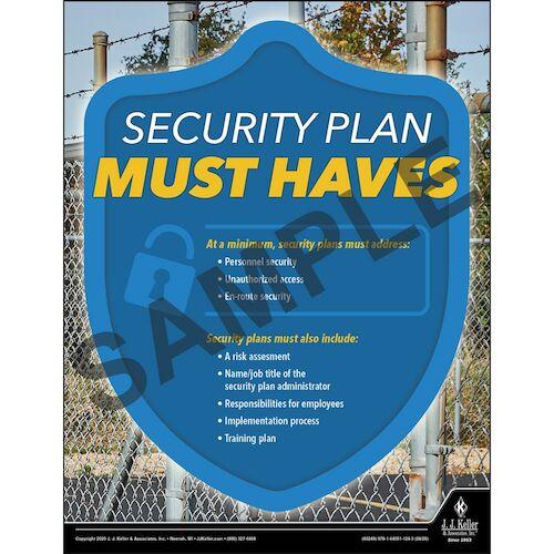 Security Plan Must Haves - Hazmat Transportation Poster (017004)
