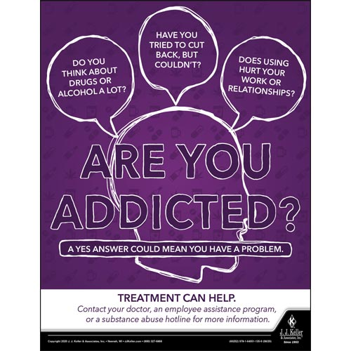 Are You Addicted - Health & Wellness Awareness Poster (017007)