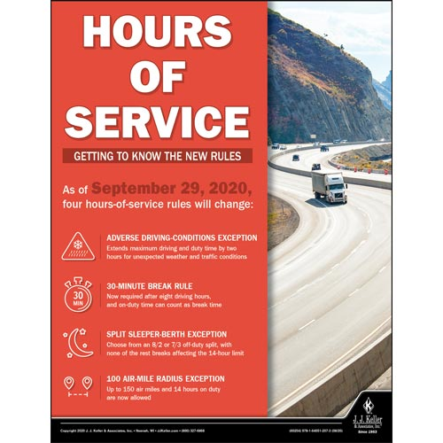 Hour of Service Getting to Know The New Rules - Transportation Safety Poster (017009)