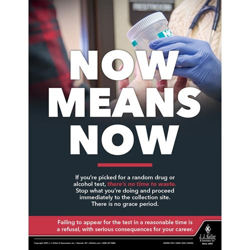Now Means Now - Motor Carrier Safety Poster (017017)