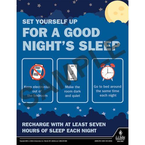 Set Yourself Up For A Good Night's Sleep - Health & Wellness Awareness Poster (017018)