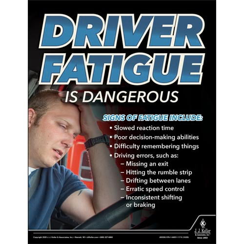 Driver Fatigue is Dangerous - Driver Awareness Safety Poster (017022)