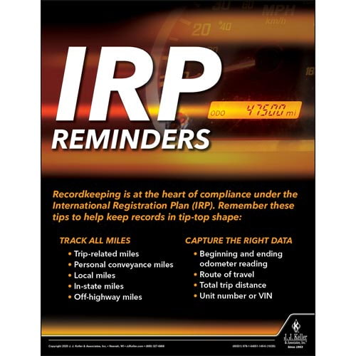 IRP Reminders - Motor Carrier Safety Poster (017023)
