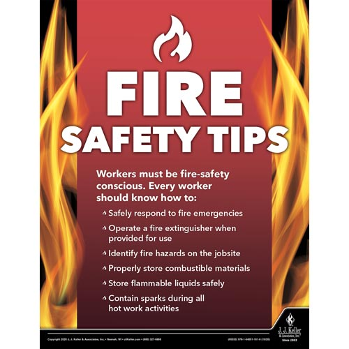 Fire Safety Tips - Construction Safety Poster (017024)