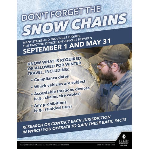 Don't Force The Snow Chains - Transport Safety Risk Poster (017030)